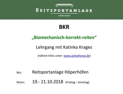 "Lehrgang BKR ""Biomechanisch-korrekt-reiten"""